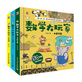 《数学大玩家》3册 为3-8岁儿童设计进阶式数学立体翻翻书