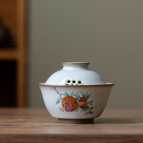 汝窑盖碗茶具开片可养单个三才茶杯手工功夫泡茶碗陶瓷防烫手抓壶