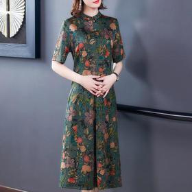 AHM-gd0931新款时尚气质修身显瘦碎花裙TZF
