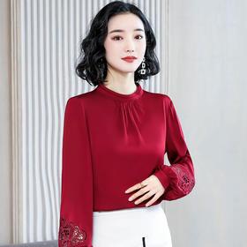 NYL078250新款潮流时尚气质宽松立领灯笼袖衬衫TZF