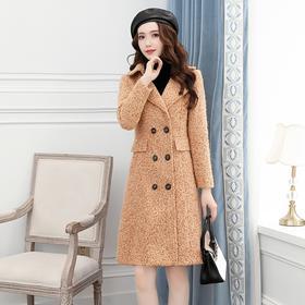 【寒冰紫雨】 女装毛呢大衣女中长款冬季 流行小个子呢子外套    CCCY2305