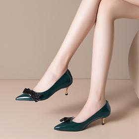 OLD-H2217新款时尚性感尖头百搭蝴蝶结高跟鞋TZF