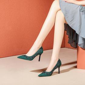 OLD-F8760新款时尚性感尖头浅口百搭细高跟鞋TZF