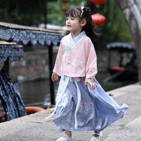 LLFS1035新款中国风优雅气质童装汉服裙两件套TZF