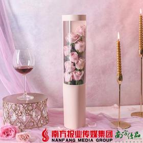 【全国包邮】怦然心动花盒(粉红款) 9枝红玫瑰/盒 (72小时之内发货)