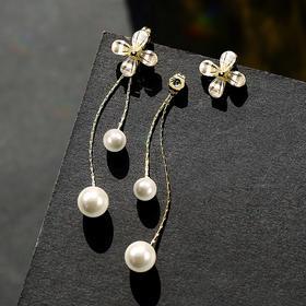 PPSP-H3015新款925银针时尚气质甜美清新花朵一款两戴耳环TZF