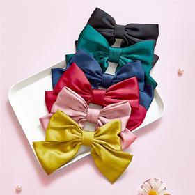 日系少女可爱红色大蝴蝶结发绳发夹边夹发饰韩国发卡夹子头饰卡子
