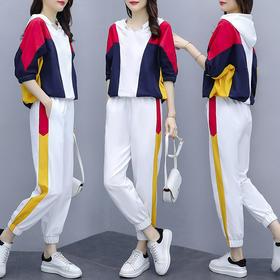 AHM-xde1185新款时尚气质休闲宽松上衣裤子两件套TZF