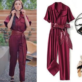 LSSZ-LS0052207新款潮流时尚气质休闲宽松衬衫工装连体裤TZF