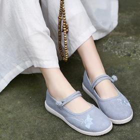 GFXY-W-853新款民族风绣花舒适汉服搭配老北京布鞋TZF