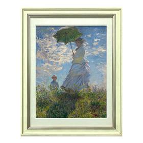 莫奈 《撑阳伞的女人》艺术版画