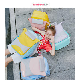 【马卡龙色系韩版书包】小学生韩版新款儿童双肩减负护脊背包