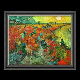 梵高《红色的葡萄园》原作版画