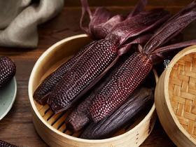 【3天内发货】 有机黑玉米非转基因黑玉米新鲜糯玉米 6斤左右10根