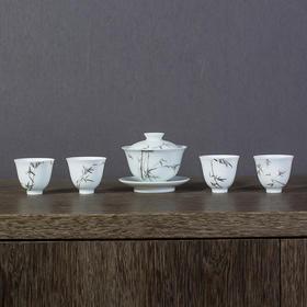 雅市·《银竹》茶器套组