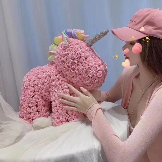 【七夕专享】网红玫瑰花独角兽 粉色 白色 商品图2