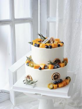 夏日芒芒—鲜果双层蛋糕