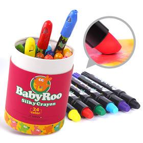 美乐 儿童蜡笔 水溶性涂色油画棒