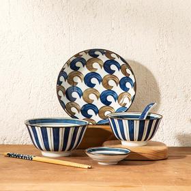 日式沧海餐具,掌柜推荐,每一顿饭都是一次艺术创作,一套6件