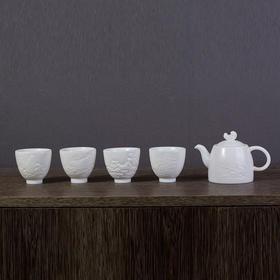 临江仙白瓷茶具套组