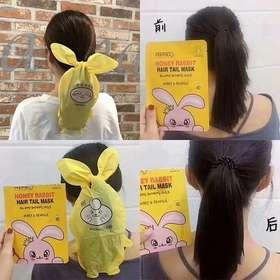 【买1送1 到手2盒 】一般贸易 玩趣护发 懒人必备  韩国莉碧儿兔子发梢膜免洗发膜4片/盒
