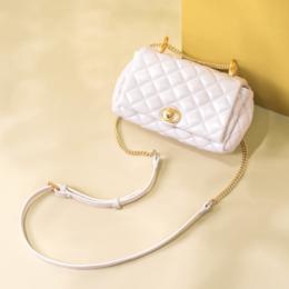 日本marssharing珍珠菱格包 2020秋季新款时尚百搭手提包可手拎可单肩斜挎女包