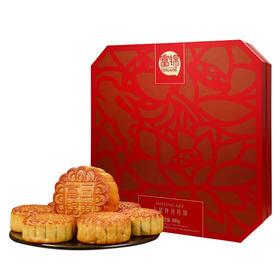 【中秋送礼】富锦七星伴月月饼(八角盒)6个装  共880g【粮油特产】