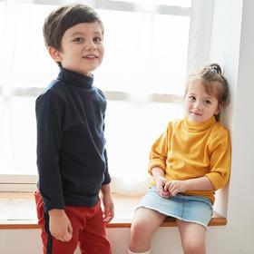 【买一送一,买成人送儿童,儿童款0元得,拍2件立减哦】亲子款!软糯百搭的纯色高领打底衫QZT901
