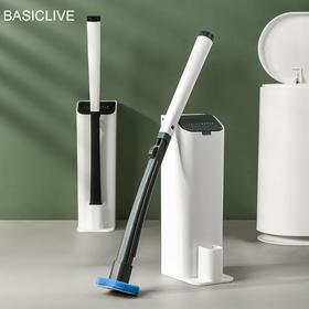 BASICLIVE夹式可抛马桶刷 | 自带清洁液,洗完即扔更卫生