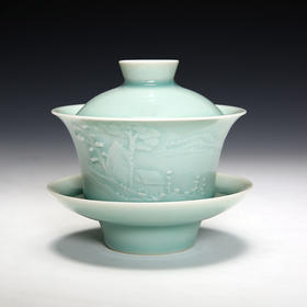 四季山水青瓷茶器·盖碗
