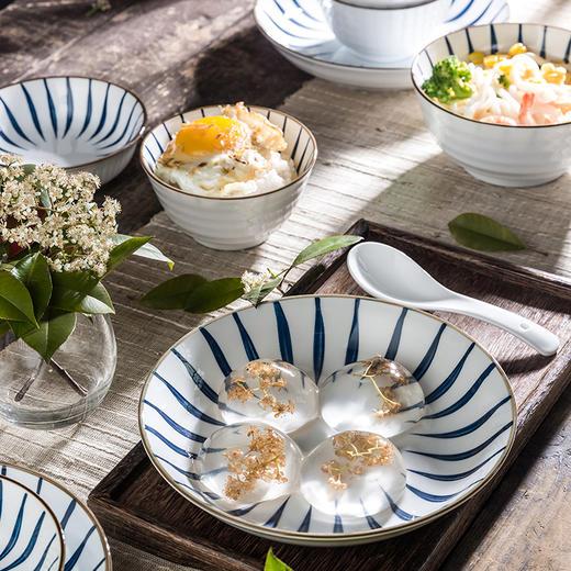 【为思礼】「日式手绘瓷器餐具」16件套日式和风千叶草手绘餐具套装 盘子/碗 商品图4