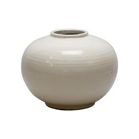 白釉花瓶 White ceramic vase round