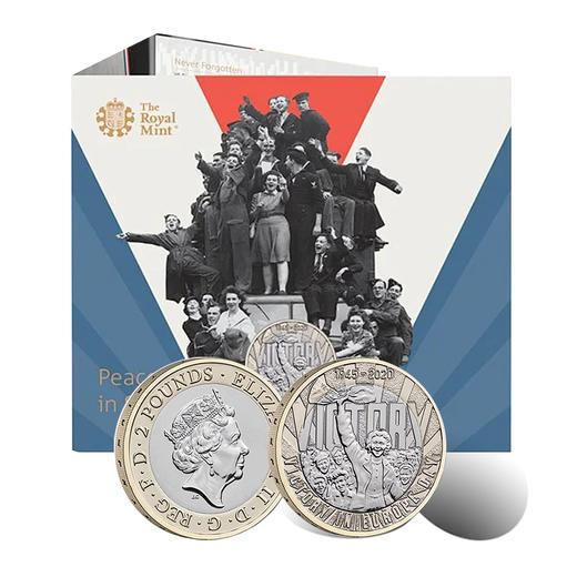【铭记历史】二战胜利75周年双金属纪念币 商品图0