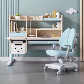 优沃实木儿童学习桌椅小学生写字桌可升降书桌套装家用课桌小户型