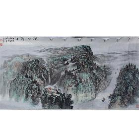 刘占军·峡江行舟(138*70)