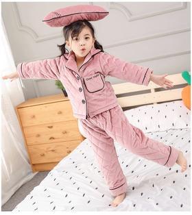 【清仓特价 不退不换】EKED6879冬款儿童加绒睡衣三件套TZF