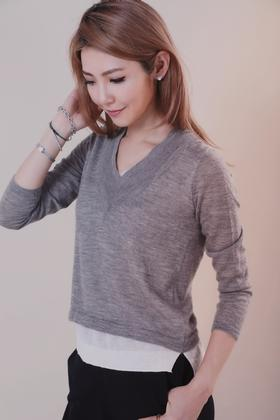 现货 Maison Covet 自有品牌 假两件式全山羊绒上衣