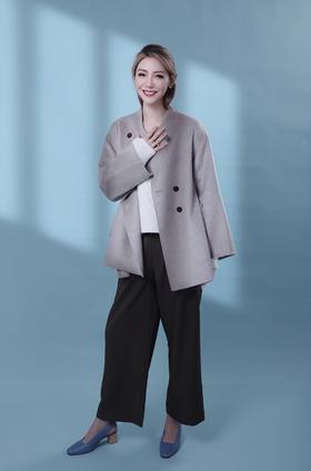 Maison Covet  自有品牌 双排扣山羊绒大衣