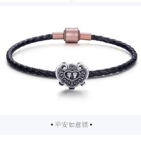 原创设计 足银转运珠 平安如意锁转运珠手串 中国风国潮 南博 南博系列