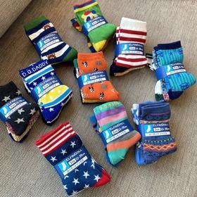 超可爱的日单棉秋冬款儿童袜 中筒袜子 9双组 暖暖超舒服哒