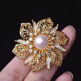新品上新*天然淡水珍珠胸针蝴蝶结款、镂空花朵款