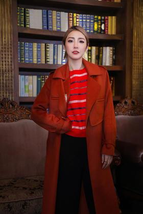 Maison Covet 自有品牌 长款全山羊绒大衣