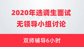 【2020年选调生面试】无领导小组讨论双师辅导6小时