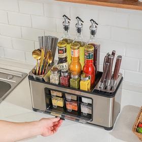 德国康巴赫厨房置物架收纳台面调料刀架厨房用品多功能不锈钢收纳