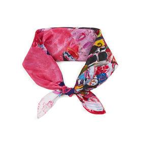 【钛空舱甄选 设计是原创】方巾款 100%真丝围巾 多款式可选 送妈妈 百搭 防晒 礼盒款 | 基础商品