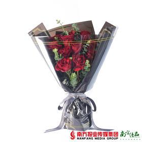 心跳 11枝红玫瑰花束 不含花瓶(72小时内发货)