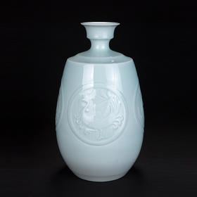 青瓷四象瓶