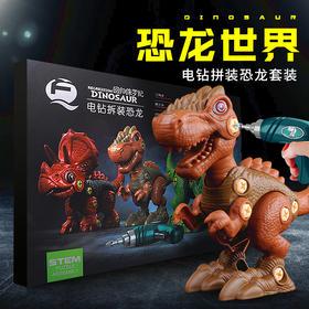 儿童电钻拆装恐龙益智玩具