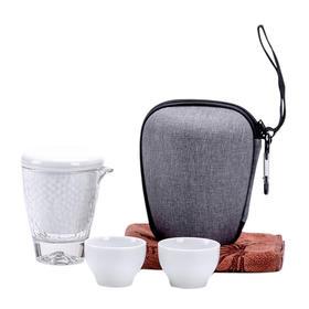 旅行茶具套装便携式包一壶两杯三杯快客杯陶瓷功夫茶具随身泡茶壶