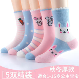 PDD-春秋儿童袜子女韩版秋冬女童宝宝袜洋气可爱中筒袜